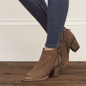 Dolce vita Jeager tan zip up bootie